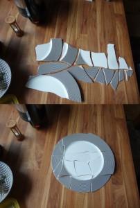 Kaputter Teller - aufgeräumt